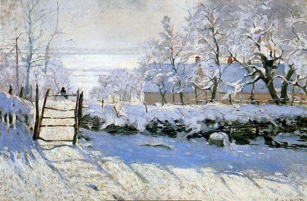Monet- tableaux  01-_Monet_-_La_pie_-_89x130cm_-_1868-69
