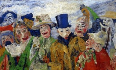 James Ensor - l'intrigue - 1895 - 90 x 150 cm