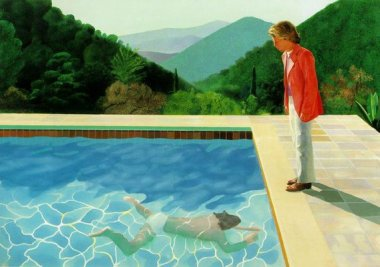 David Hockney - Pool with Two Figures - 1971